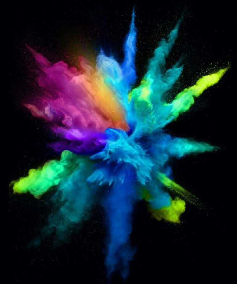 multi colour explosion